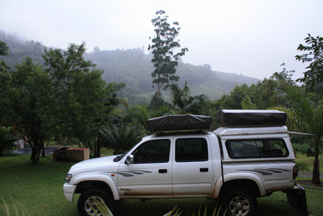 The 4x4 in the rainy valley