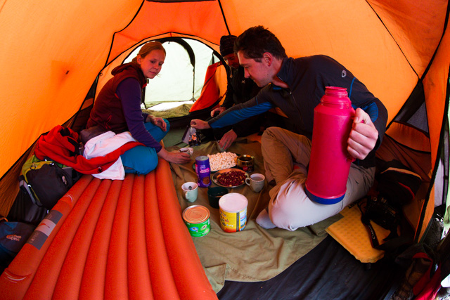 Tea time in the tent