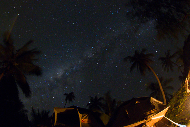 The Milky Way as seen from the beach