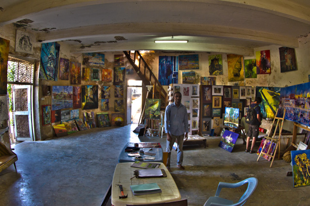 The old fort artist in his studio