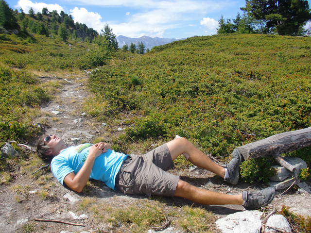 After lunch nap in the sun at about 2000m