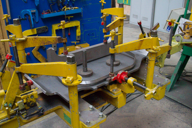 A jig for welding sub-assemblies