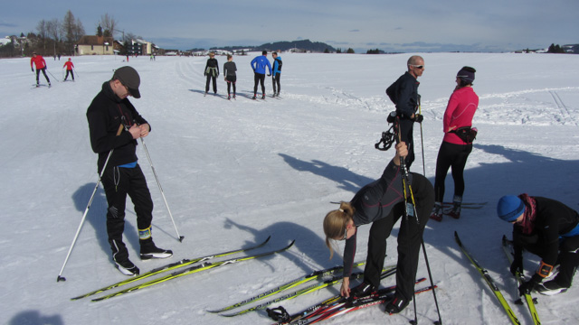 Gearing up for cross country skiing