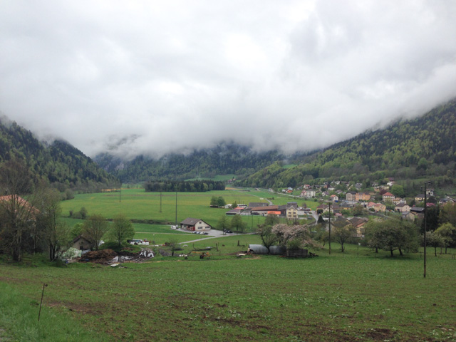 Low hanging clouds in the valley