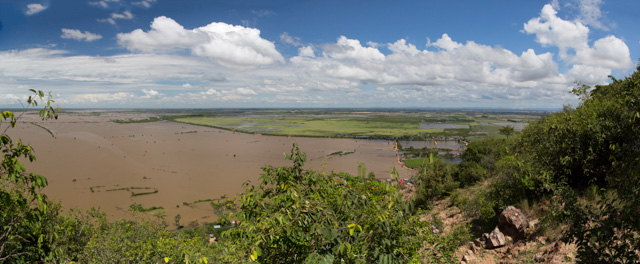 View over floodplains