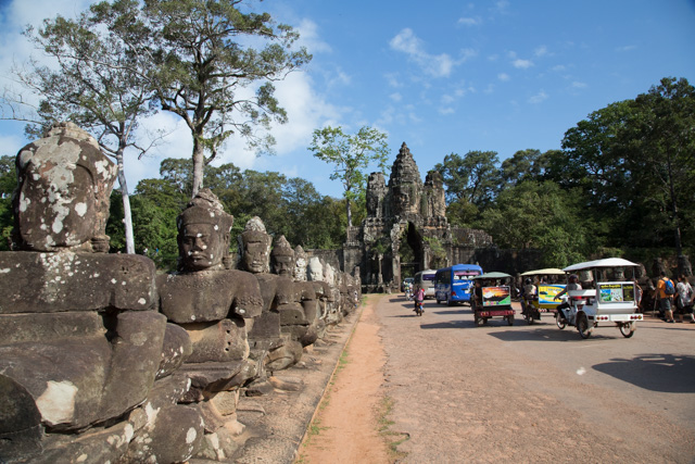 Heading into Angkor