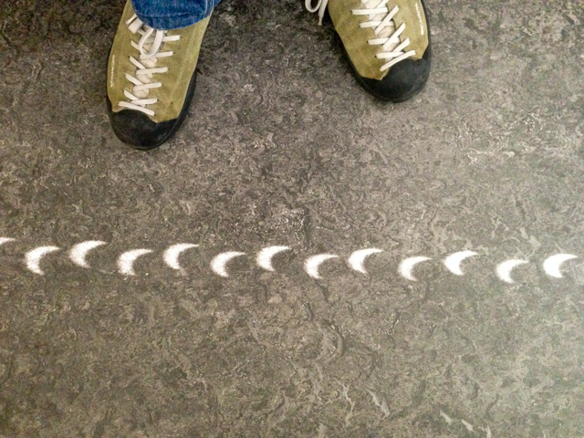 Eclipse projections on the floor