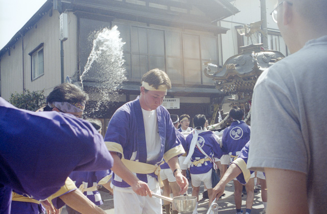 You in Japan in 2001, Summer Mikoshi festival