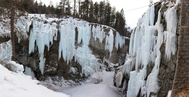 The ice climbing area